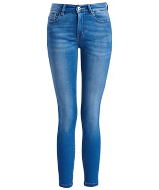 Women's Barbour International Delta Cropped Jeans - Surf Blue