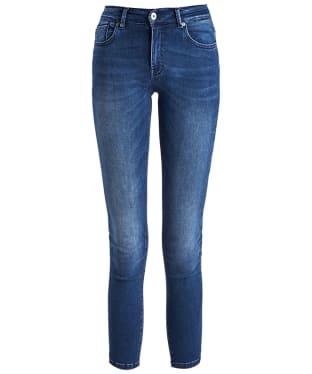 Women's Barbour International Delta Cropped Jeans - Two Tone Dark Worn