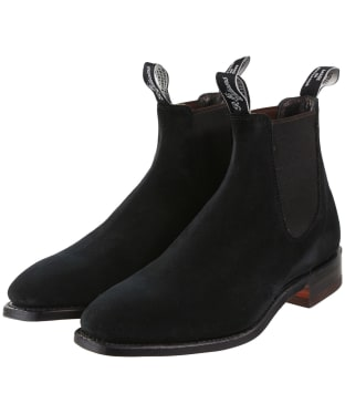 Men's R.M. Williams Suede Craftsman Chelsea Boots - G Fit - Black