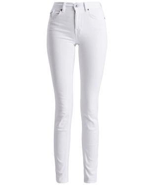 Women's Barbour International Hairpin Skinny Jeans - White