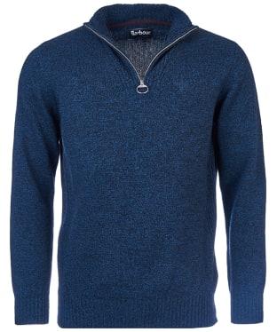Men's Barbour Essential Lambswool Half Zip Sweater - Navy Mix