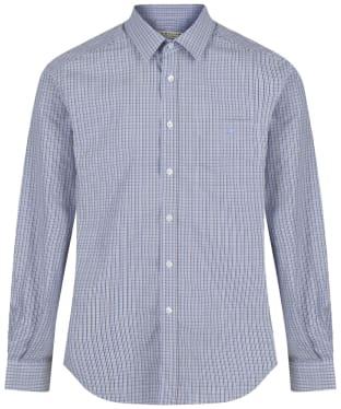 Men's R.M. Williams Check Collins Shirt - Blue / Brown / Navy