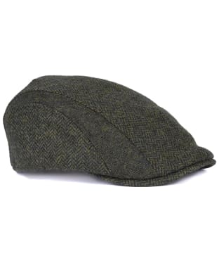 Men's Barbour Herringbone Tweed Cap - Olive