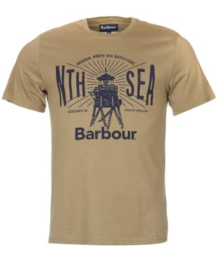 Men's Barbour North Sea Tee - Mushroom