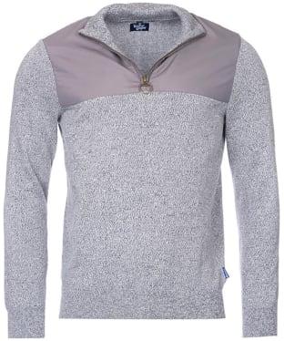 Men's Barbour Spruce Half Zip Sweater - Grey