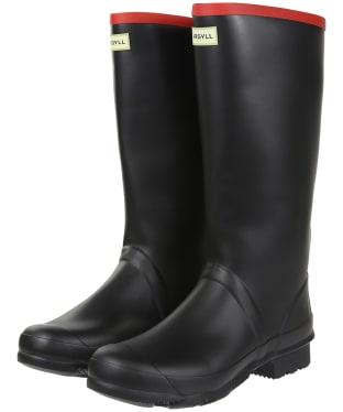 Hunter Argyll Full Knee Neoprene Wellington Boots - Black
