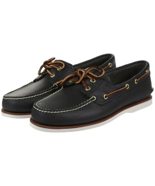 Men's Timberland Icon Classic 2 Eye Shoes - Navy Smooth