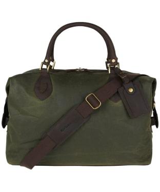Barbour Archive Waxed Cotton Travel Explorer Bag - Archive Antique Olive
