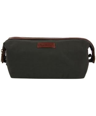 Men's Barbour Drywax Convertible Wash Bag - Olive