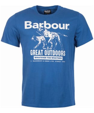 Men's Barbour Companion Tee - Mid Blue