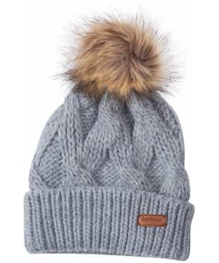 Women's Barbour Ashridge Beanie Hat - Grey
