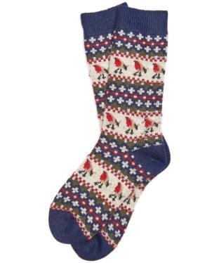 Women's Barbour Robin Fairisle Socks - Navy