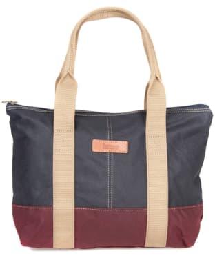 Women's Barbour Ashridge Small Tote Bag - Navy / Red
