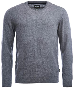 Men's Barbour Harrow V Neck Sweater - Grey Marl