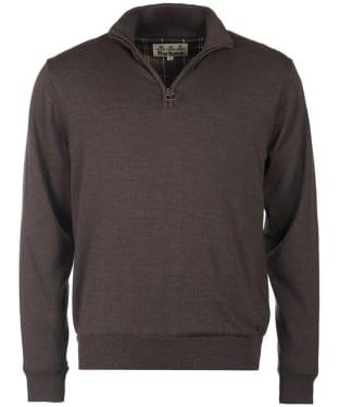 Men's Barbour Gamlin Half Zip Waterproof Sweater - Rustic