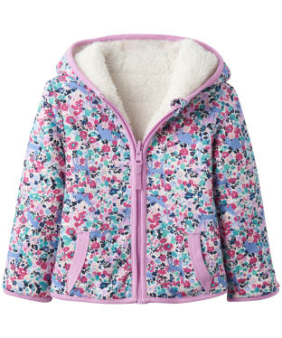 Girls Joules Toddler Cosette Reversible Fleece, 9-24m