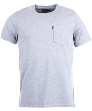 Men's Barbour Essential Pocket Tee - Grey Marl