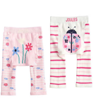 Girls Joules Baby Lively Legging Twin Pack, 0-12m