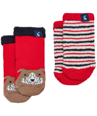 Boy's Joules Baby Terry Character Socks 2-Pack, 0-3yrs