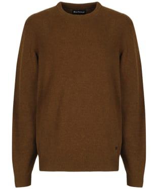 Men's Barbour Patch Crew Neck Lambswool Sweater - Bracken