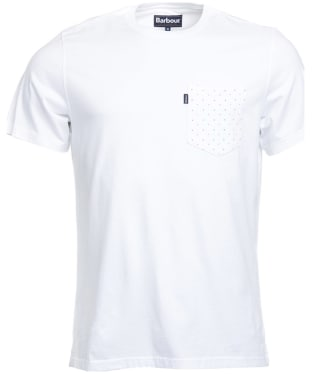 Men's Barbour Polka Pocket Tee - White