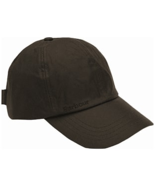 Men's Barbour Waxed Sports Cap - Olive