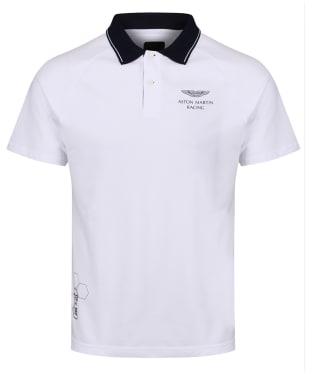 Men's Hackett Aston Martin Racing Raglan Sleeve Polo Shirt