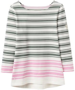 Women's Joules Harbour Block Printed Top - Laurel Pink Stripe
