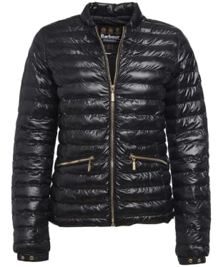 Women's Barbour International Lapper Quilted Jacket - Black