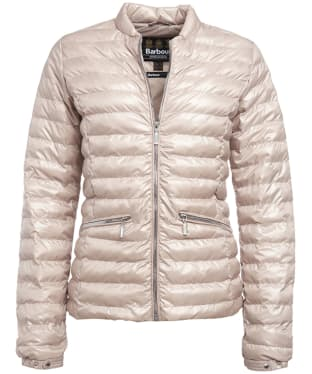 Women's Barbour International Lapper Quilted Jacket - Pale Pink