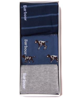 Men's Barbour Pointer Sock Gift Set - Dark Chambray