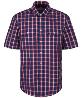 Men's R.M. Williams Fraser Shirt - Navy / Red / White