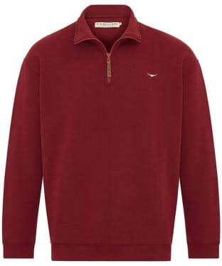 Men's R.M. Williams Mulyungarie Half Zip Fleece - Red