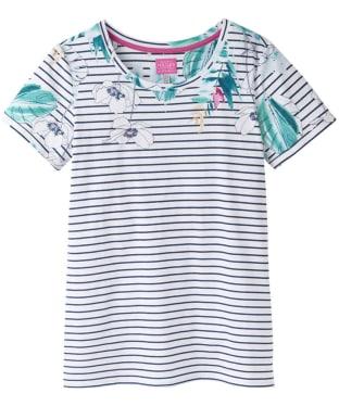 Women's Joules Nessa Print Jersey T-Shirt - Palm Stripe