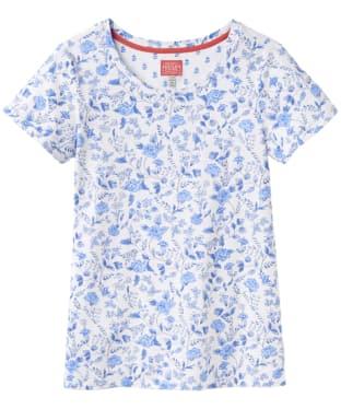Women's Joules Nessa Print Jersey T-Shirt - White Sea Air Ditsy