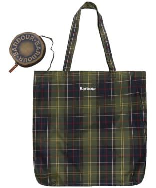 Barbour Travel Stud Tote Bag - Classic Tartan
