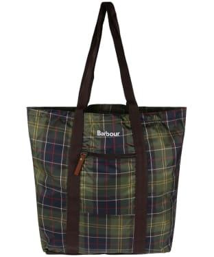 Barbour Travel Pocket Tote Bag - Classic Tartan