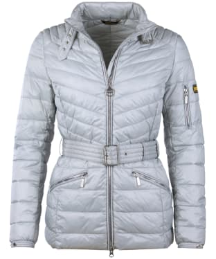 Women's Barbour International Hedemora Quilted Jacket - Ice White