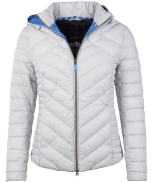 Women's Barbour Pentle Quilted Jacket - Ice White