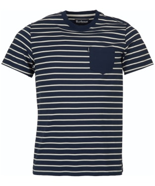 Men's Barbour Tow Stripe Tee - Navy