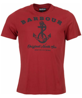 Men's Barbour Anchor Tee - Biking Red