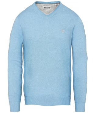 Men's Timberland Williams River V-Neck Sweater - Silver Lake Blue