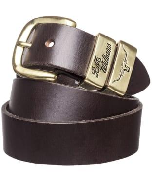 Men's R.M. Williams 3 Piece Solid Hide Belt - Chestnut