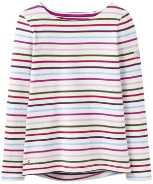 Women's Joules Harbour Jersey Top - Cream Multi Stripe