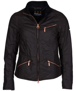 Women's Barbour International Backmarker Waxed Jacket - Rustic