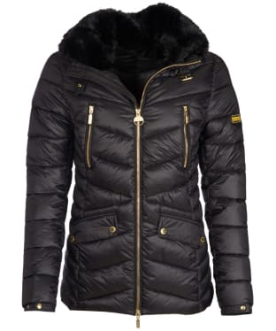 Women's Barbour International Autocross Quilted Jacket - Black