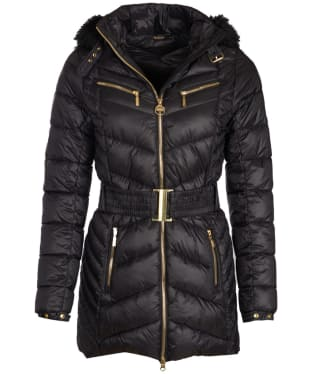 Women's Barbour International Grand Quilted Jacket - Black