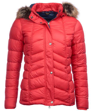 Women's Barbour Bernera Quilted Jacket - Reef Red