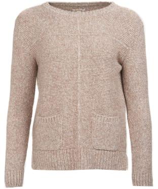 Women's Barbour Malvern Crew Neck Sweater - Oatmeal