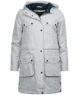 Women's Barbour Isobar Waterproof Jacket - Ice White